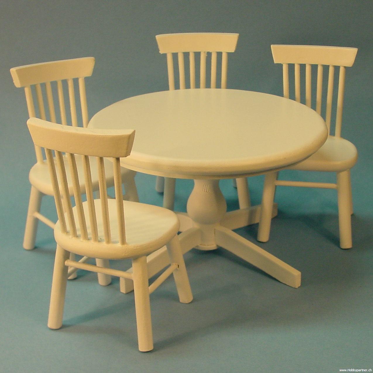 runde tisch 4 st hle. Black Bedroom Furniture Sets. Home Design Ideas